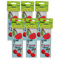 Cherry Scented Bookmarks, 24 Per Pack, 6 Packs