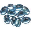 Blumenthal Lansing-Favorite Findings Sew-On Oval Gems-Turquoise 9/Pkg