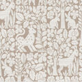 Waverly Upholstery Décor Fabric 9\u0022x9\u0022 Swatch-Forest Friends Linen