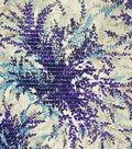 Spring Sheen Lurex Woven Fabric -Blue Floral Burst