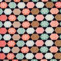Doodles Christmas Cotton Fabric 57\u0022-Navy Geo Snowflakes