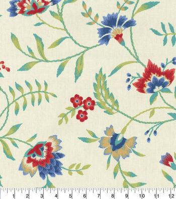 "Waverly Upholstery Fabric 54""-Carolina Crewel Bluebell"