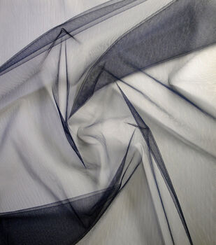 Netting Shiny Tulle Fabric -Total Eclipse