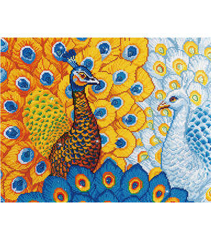"Diamond Embroidery Facet Art Kit 31.5""X25""-Romantic Peacocks"