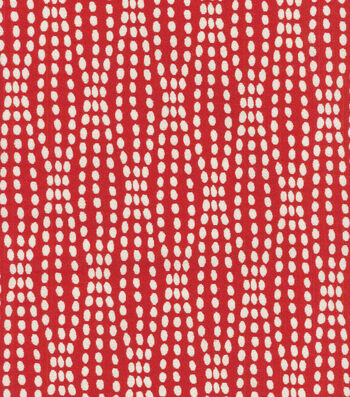"Waverly Upholstery Fabric 55""-Strands Scarlet"