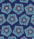 Keepsake Calico Cotton Fabric-Dawn Large Flowers Blue