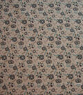 Quilter\u0027s Showcase Cotton Fabric-Teal & Purple Flowers on Beige
