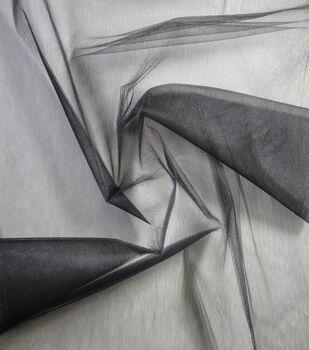 Netting Shiny Tulle Fabric 108''-Black