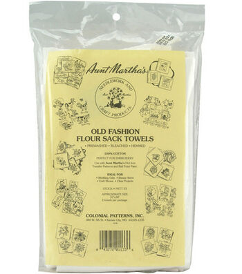 Aunt Marthas Old Fashion Flour Sack Towels-White 2/pk
