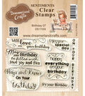 Dreamerland Crafts Sentiments Clear Stamp Set 3\u0027\u0027x4\u0027\u0027-Birthday 07