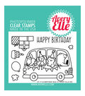 Avery Elle 7 pk Clear Stamps-Birthday Bus