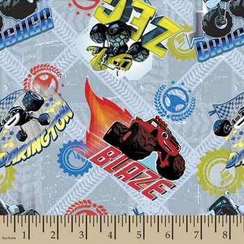 Nickleodeon Blaze and the Monster Machines Print Fabric