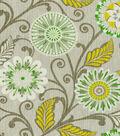HGTV Lightweight Decor Fabric Urban Blosson Platinum