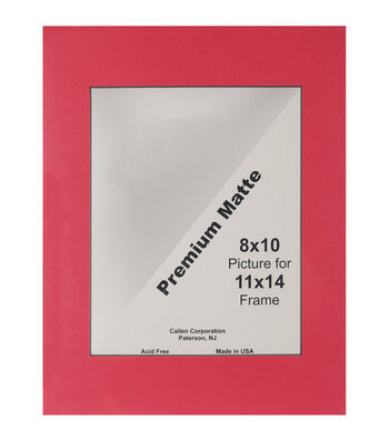 "Photo Mat 11""X14"" Single Hand-Cut With Bevel Edge-Cranberry/Black"