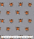Snuggle Flannel Fabric-Tiger Face Gray
