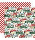 Santa\u0027s Workshop Double-Sided Cardstock 12\u0022X12\u0022-Season\u0027s Greetings