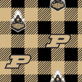 Purdue Boilermakers Fleece Fabric-Buffalo Plaid