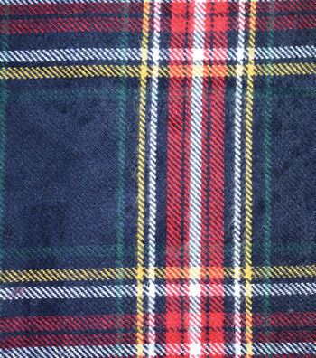 "Sportswear Acrylic Fabric 52""-Black, Red & Yellow Tartan Plaid"