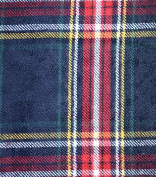 Sportswear Acrylic Fabric-Blue, Red & Yellow Tartan Plaid