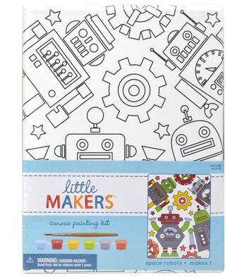 Little Makers 6X8 Canvas Kit-Space Robots