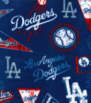 Los Angeles Dodgers Fleece Fabric-Vintage, , hi-res
