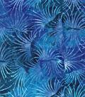 Legacy Studio Batik Cotton Fabric 43\u0022-Purple Blue Bloom