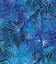 Legacy Studio Batik Cotton Fabric -Purple Blue Bloom, , hi-res
