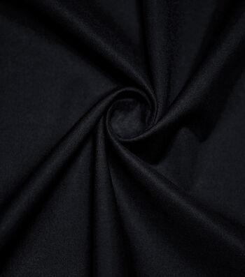Premium Cotton Fabric -Poppy Black