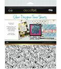 Deco Foil 4 pk 8.5\u0027\u0027x11\u0027\u0027 Clear Designer Toner Sheets-Floral Sketch