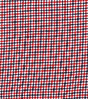 Woven Cotton Fabric 44''-Red, White & Blue Gingham