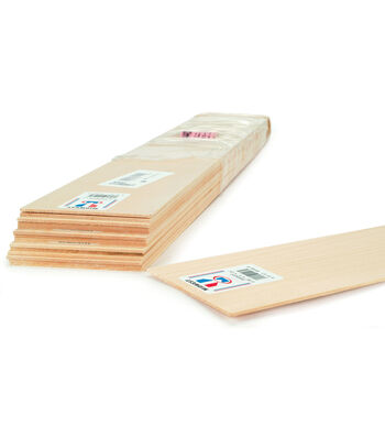 """Balsa Wood Sheet 24""""-1/4""""X3"""""""