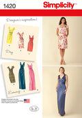 Simplicity Pattern 1420H5 6-8-10-12--Misses Dresses