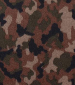 Blizzard Fleece Fabric -Classic Camouflage