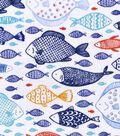 Snuggle Flannel Fabric 42\u0022-Fishes