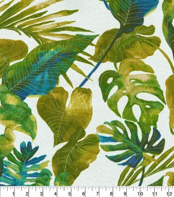 Tommy Bahama Outdoor Print Fabric 54''-Jade Inky Palms