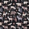 Novelty Cotton Fabric-Black & Tan Wilderness