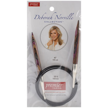 "Premier Yarns Fixed Circular Needles 40"" Size 13/9.0mm"