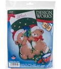 Design Works 18\u0027\u0027 Felt Stocking Applique Kit-Teddy Bear Fun