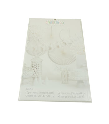 Cheer & Co 7pc Party Decoration Kit-White