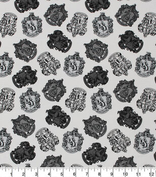 Harry Potter Cotton Fabric-House Crest