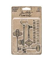 Tim Holtz Idea-ology Pack of 14 Adornment Keys, , hi-res