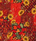 Harvest Cotton Fabric 43\u0022-Autum Festival Metallic