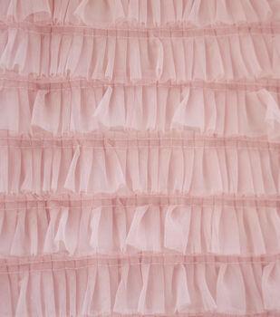 Sew Sweet Mesh Fabric-Peachskin Ruffle
