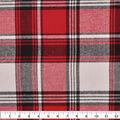 Plaiditudes Brushed Cotton Fabric-White, Red & Black Plaid