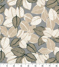 Quilter\u0027s Showcase Cotton Fabric-Sketched Leaves on Tan