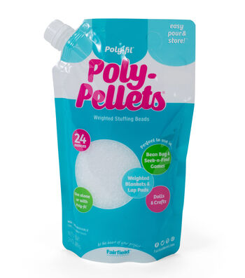 Poly-Fil Poly Pellets Weighted Stuffing Beads 24 ounce Bag