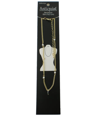 hildie & jo Antiquist 30'' Wrap Gold Necklace-Small Pearls