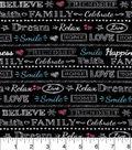 Snuggle Flannel Fabric 42\u0022-Believe Dream Love