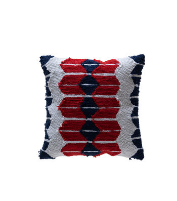 Camp Ann 17''x17'' Hooked Pillow-Aztec