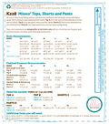 Kwik Sew Pattern K0228 Misses\u0027 Tops, Shorts & Pants-Size XS-S-M-L-XL